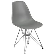 Flash Furniture Plastic Chair(FH130CPP1GY)