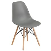 Flash Furniture Plastic Chair(FH130DPPGY)