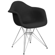 Flash Furniture Black Fabric Chair Chrome (2FH132CCV1FC01)