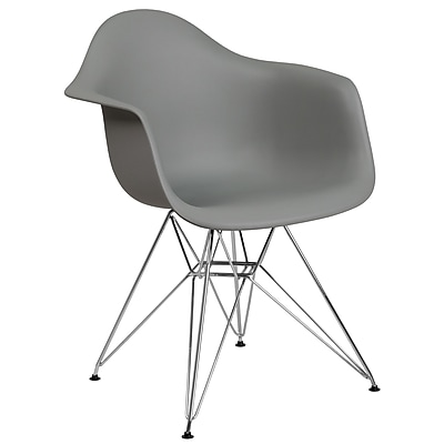Flash Furniture Plastic Chair 2 2FH132CPP1GY)