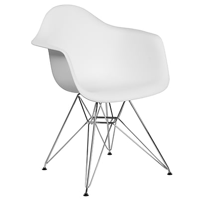 Flash Furniture Plastic Chair(FH132CPP1WH)
