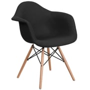 Flash Furniture Black Fabric Chair Wood (2FH132DCV1FC01)