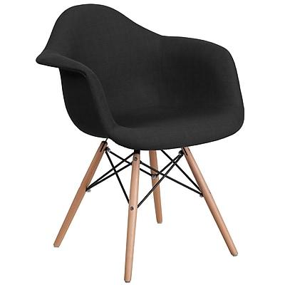 Flash Furniture Black Fabric Chair Wood (2FH132DCV1FC01)