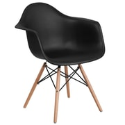 Flash Furniture Alonza Series Black Plastic Party Chair (FH132DPPBK)