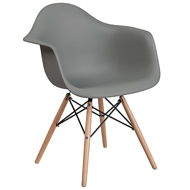 Flash Furniture Plastic Chair(FH132DPPGY)