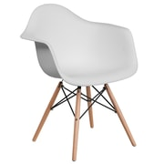 Flash Furniture Plastic Chair(FH132DPPWH)