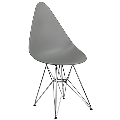 Flash Furniture Plastic Chair(FH251CPPGY)