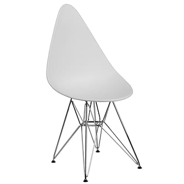 Flash Furniture Plastic Chair 2 (2FH251CPPWH)