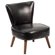 Flash Furniture Leather Retro Chair Black(QYA02BK)