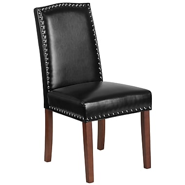 Flash Furniture Leather Parsons Chair Black (QYA139349BK)