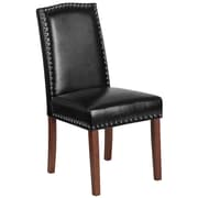 Flash Furniture Leather Parsons Chair with Nail Heads Black 2 Pack (2QYA139349BK)