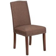 Flash Furniture Polyester Parsons Chair with Nail Heads Brown 2 Pack (2QYA139349BN)