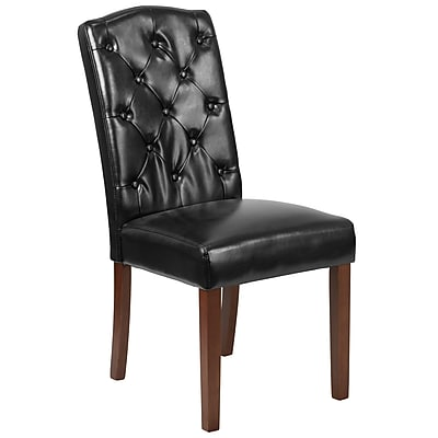 Flash Furniture Leather Tufted Parsons Chair Black 2 Pack (2QYA189325BK)