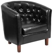 Flash Furniture Leather Barrel Chair Black(QYB16HY90304BK)