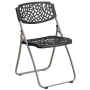 Flash Furniture Black Plastic Folding Chair(RUTNC598ABK)