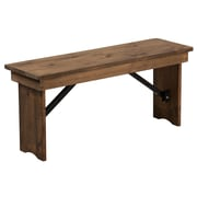 Flash Furniture Antique Rustic Solid Pine Folding Farm Bench(XAB40X12)