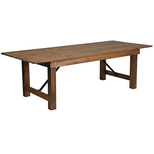 Shop Staples For Flash Furniture Wood Folding Farm Table Xaf96x40