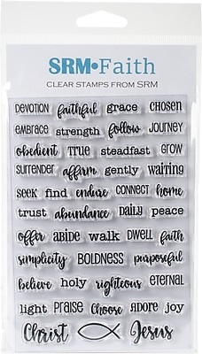 SRM Press Daily Devotion Bible Journaling Clear Stamps, 4