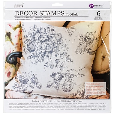 Prima Marketing Floral Iron Orchid Designs Decor Clear Stamps, 12