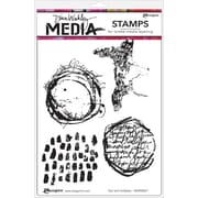 """Ranger Text & Scribbles Dina Wakley Media Cling Stamps, 6"""" x 9"""" (MDR-58427)"""