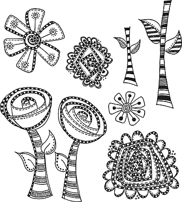 Ranger Everything's Rosy Dyan Reaveley's Dylusions Cling Stamp Collections, 8.5