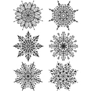 """Stampers Anonymous Swirly Snowflakes Tim Holtz Cling Stamps, 7"""" x 8.5"""" (CMS-319)"""
