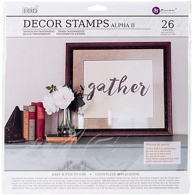 Prima Marketing Alpha #2, 1 Sheet Iron Orchid Designs Decor Clear Stamps, 12