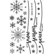 """Avery Elle Snowflakes Clear Stamp Set, 4"""" x 6"""" (AE1727)"""