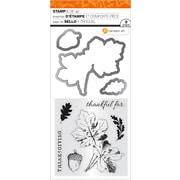 "Hampton Art Thanksgiving Leaves Clear Stamp & Die Set, 4"" x 8"" (SC0805)"