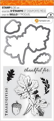 Hampton Art Thanksgiving Leaves Clear Stamp & Die Set, 4