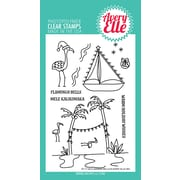 """Avery Elle Flamingo Bells Clear Stamp Set, 4"""" x 6"""" (AE1728)"""