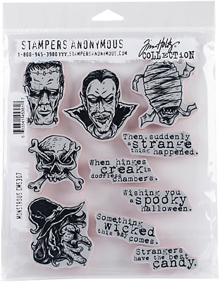 Stampers Anonymous Monstrous Tim Holtz Cling Stamps, 7