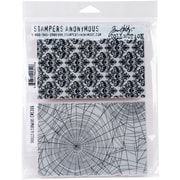 """Stampers Anonymous Skulls & Cobwebs Tim Holtz Cling Stamps, 7"""" x 8.5"""" (CMS-306)"""