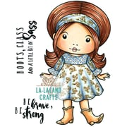 "La-La Land Crafts Cowboy Boots Marci Cling Stamps, 4.5"" x 3.5"" (LA5350)"