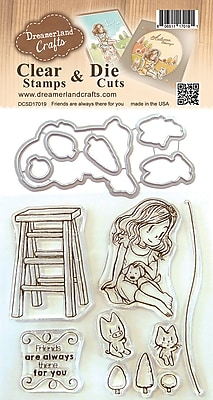 DreamerlandCrafts Friends Are Always There For You Clear Stamp & Die Set, 4
