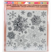 """Stampendous Snowflakes Decor Cling Stamp, 10"""" x 8.75"""" (DCR102)"""