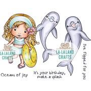 """La-La Land Crafts Oceans Of Joy Cling Stamps, 4.5"""" x 3.5"""" (LA5349)"""
