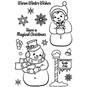 """Avery Elle Frosty Friends Clear Stamp Set, 4"""" x 6"""" (AE1737)"""
