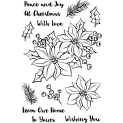 """Avery Elle Holiday Bouquet Clear Stamp Set, 4"""" x 6"""" (AE1738)"""