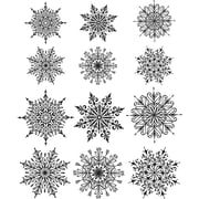 """Stampers Anonymous Mini Swirley Snowflakes Tim Holtz Cling Stamps, 7"""" x 8.5"""" (CMS-320)"""