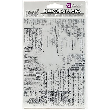 Prima Marketing Texture Iron Orchid Designs Cling Stamps, 5