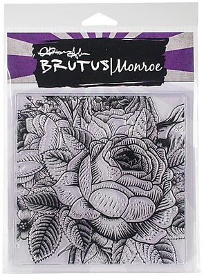 Brutus Monroe Enchanted Rose Background Clear Stamps, 5.75