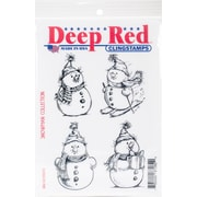 "Deep Red Stamps, Snowman Collection Cling Stamp, 4"" x 6"" (5X705674)"