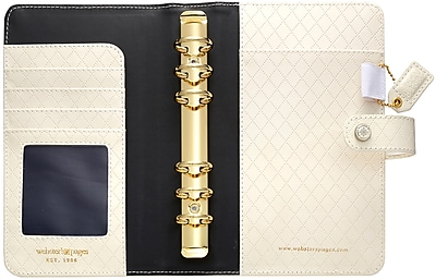 Webster's Pages Diamond White Color Crush Faux Leather Personal Planner Kit, 5.25