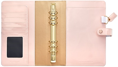 Webster's Pages Patent Petal Pink Color Crush A5 Faux Leather Planner Kit, 7.5