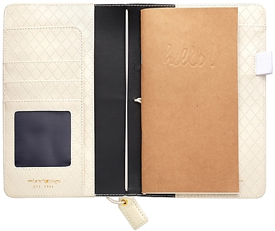 Webster's Pages Diamond White Color Crush Faux Leather Travelers' Planner, 5.75