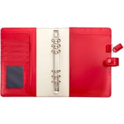 """Webster's Pages Patent Red Color Crush A5 Faux Leather 6-Ring Planner Binder, 7.5""""X10"""" (A5001-PTR)"""