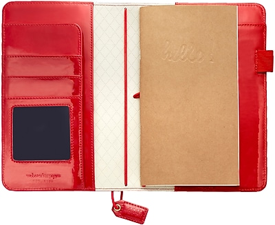 Webster's Pages Patent Red Color Crush Faux Leather Travelers' Planner, 5.75