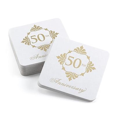 Hortense B. Hewitt Golden Anniversary Coasters, 25 Pack (55165ST)