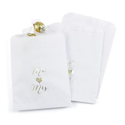Hortense B. Hewitt Mr. and Mrs. Treat Bags, White, 25 Pack (42261ST)